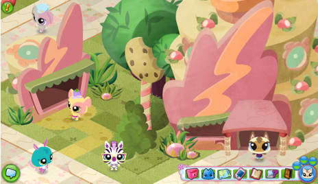 Scene from Littlest Pet Shop Online